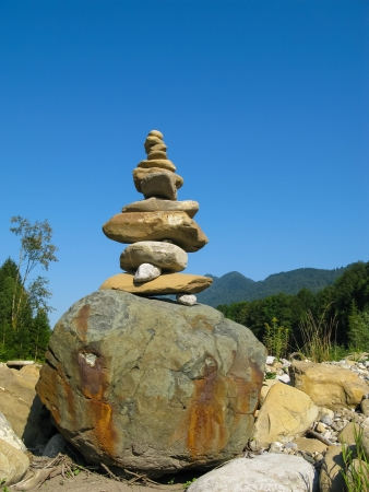 piled: Piled stones on the stupa