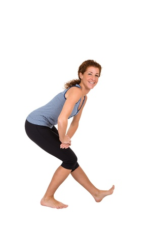 elongation: Elongation of the leg flexor muscles