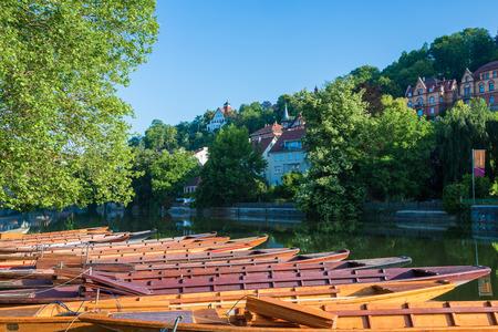 riverfront: riverfront in tuebingen at the river neckar