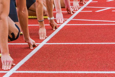 razas de personas: l�nea de carrera Foto de archivo