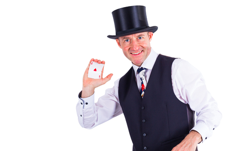 skat: Magician shows card