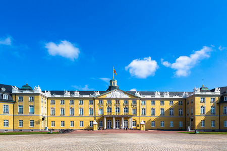 baroque palace of Karlsruhe in germany