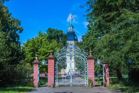 entrance to the palace garden in Karlsruhe