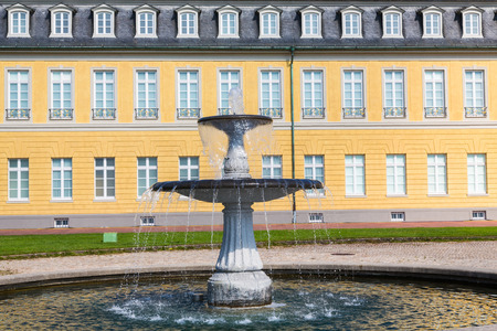 fountain in front of palace in Karlsruhe