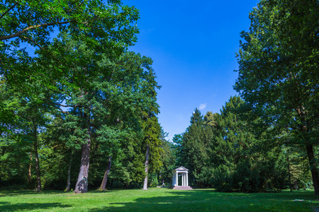 classicism: Temple in classicism architecture in the park of Karlsruhe