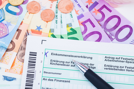 takings: tax form for income tax in germany