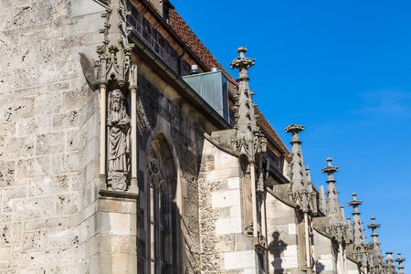 detail of the church St. Amandus at Bad Urach in Germany