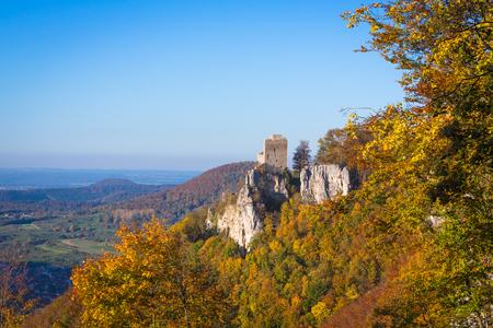 vár Reussenstein színes leafes ősszel