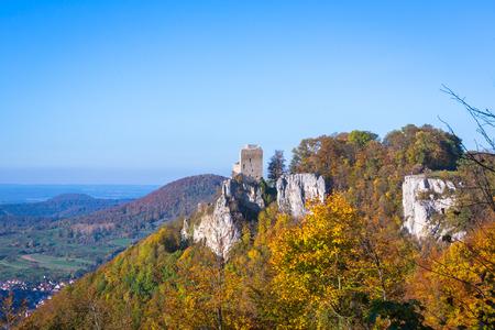 vár Reussenstein őszi színes leafes