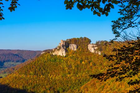 castle Reussenstein on the Suabian Alb in autumn Stock fotó