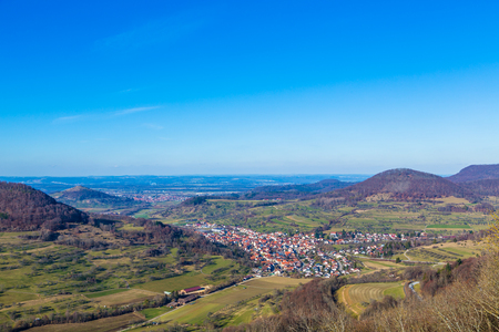 panorama view of the castle Reussenstein in Germany