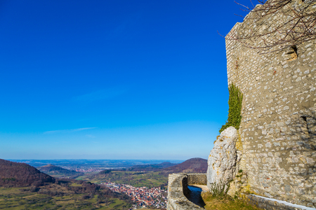 walls an view at the castle Reussenstein in Germany Editorial
