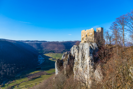 castle Reussenstein on the suabian alb in germany Editorial