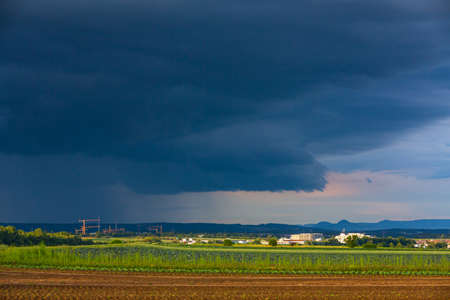 thunderstorm on the Filder near Stuttgart in Germany Stockfoto