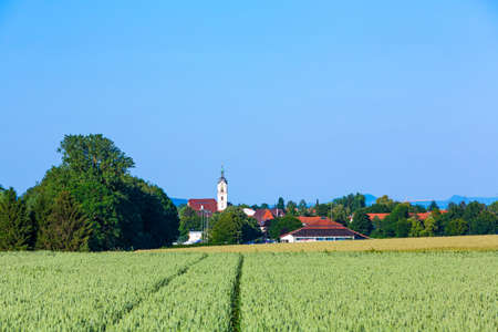 church tower of Neuhausen on the Fildern in Germany Stockfoto