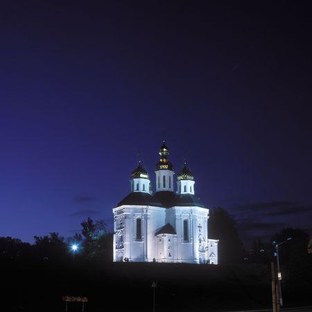 Ekaterinas church in Chernigov, Ukraine Stock Photo