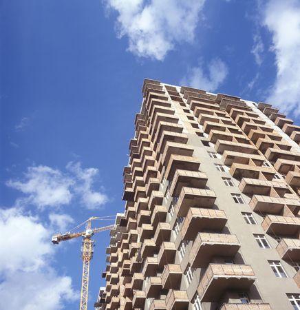 A construction site of the condo building. Kyiv, Ukraine. Stock Photo - 5736910