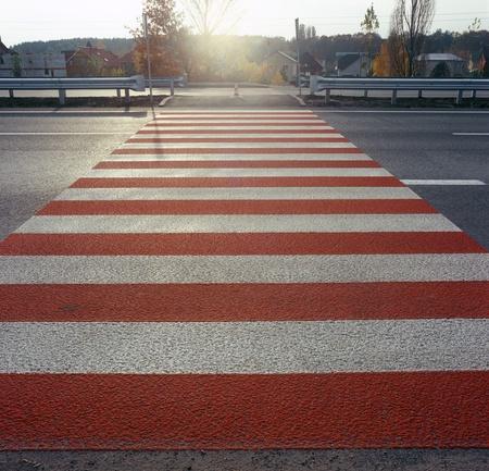 Zebra pattern pedestrian crossing. Please see similar photos in my portfolio. photo