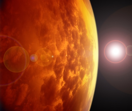 Red planet in space. Please see some similar pictures from my portfolio. photo