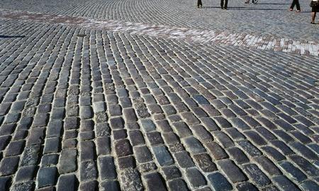 오래 된 조약돌 마 광장입니다. 바르샤바, 올드 타운, 폴란드입니다.