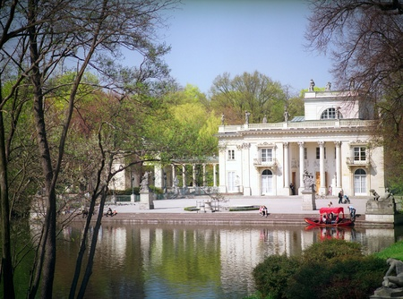 Palace on the Island in Lazienki Park, Warsaw, Poland. The summer residence of Polish Kings.
