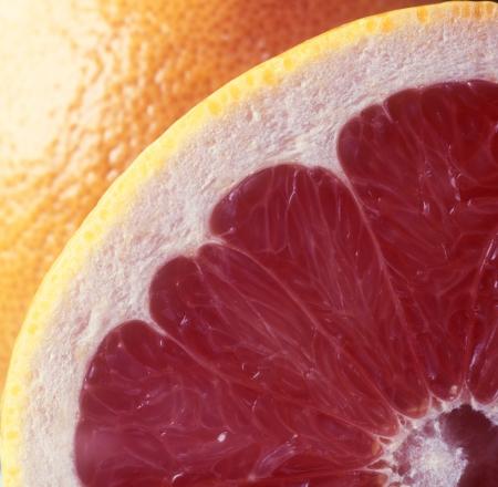 Red grapefruit close-up.