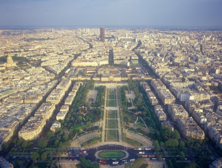 A view of Paris from the Eiffel Tower.