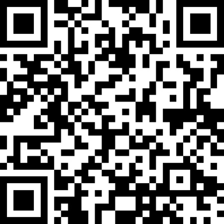 New technology barcode called QR Code  This example of code literally translates as the following text