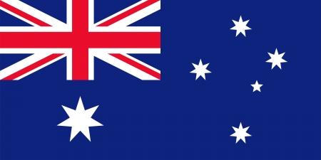 specifiche: Bandiera nazionale e di stato alfiere di Australia. Soddisfare le specifiche. Giusta proporzione (2:1) e colori. Archivio Fotografico