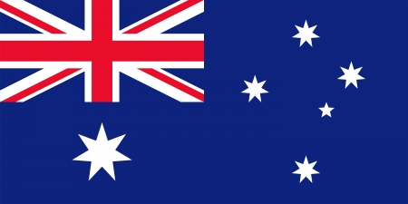 National flag and state ensign of Australia. Meet the specifications. Proper proportion (2:1) and colours.