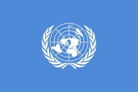 united nations: Current flag of the United Nations  Proportion 2 3  Color - Pantone 279C  Adopted December 7,1946