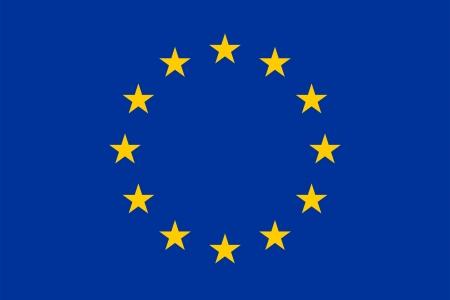 유럽의 현재 국기의 공식 기본 설계. 적절한 비율 (2 : 3)과 색상. 1955년 12월 8일 (자본 비용), 1985 6월 29일 (EEC)를 채택했다.