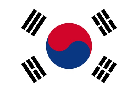 National flag of South Korea.   photo
