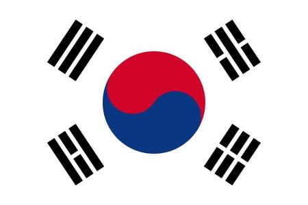 south asian: National flag of South Korea.