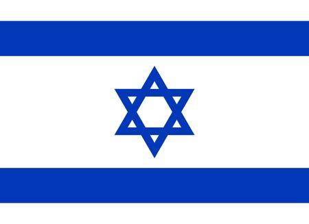이스라엘의 국기. 적절한 비율 (8시 11분) 및 색상. 1948년 10월 28일 채택했다.