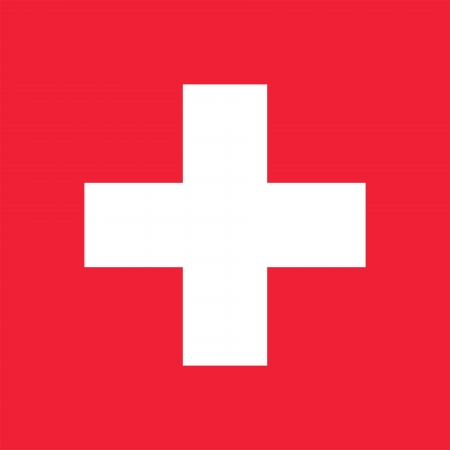 Current national flag of Switzerland. Complies to the Article 1 of Federal Order No111 on the arms of the Helvetic Confederation (12 December 1889). Proper square shape and proper red color. Adopted in 1889. photo