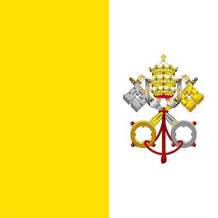 바티칸 시티의 국가의 국기입니다. , 1929 년이 6월 8일 채택했다. 스톡 콘텐츠