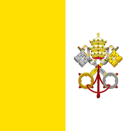Flag of the State of the City of Vatican. Adopted June 8, 1929.