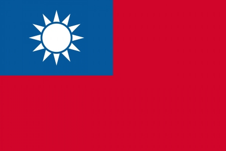 Civil and state flag and national ensign of the Republic of China (Taiwan). Adopted in1928.