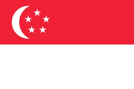 singaporean flag: Civil and state flag of Singapore. Adopted 3 December 1959.