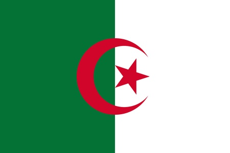 National flag and civil and state ensign of the Democratic and Popular Algerian Republic. Adopted July 3, 1962.