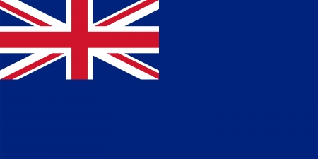 State ensign of the United Kingdom of Great Britain and Northern Ireland (Blue Ensign). Proper ratio (2:1) and colors. photo