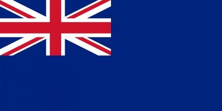 scottish flag: Stato alfiere del Regno Unito di Gran Bretagna e Irlanda del Nord (Blue Ensign). Rapporto corretto (2:1) e colori.