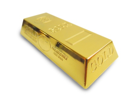 goldbar: Gold bar isolated on white background.