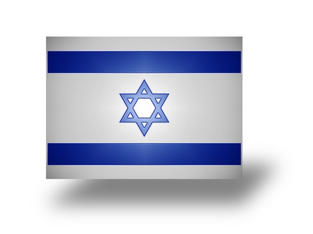 zionism: National flag of Israel  stylized I