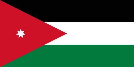 the hashemite kingdom of jordan: Civil and state flag and ensign of the Hashemite Kingdom of Jordan  Proper construction, proportion  2 1  and colors  Officially adopted on 16th April 1928