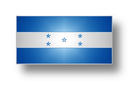 National flag of Republic of Honduras  stylized I   photo