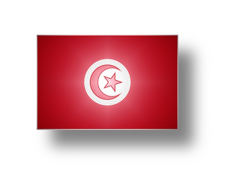 tunisie: National flag and ensign of Tunisia  stylized I