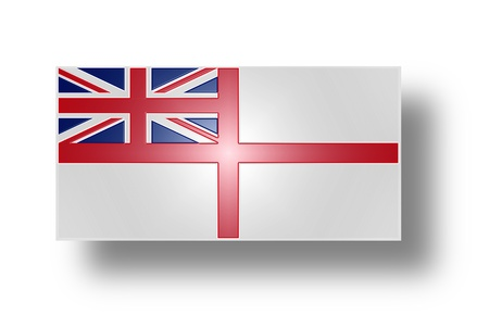 Naval ensign of the United Kingdom of Great Britain and Northern Ireland  White Ensign   Stylized I  photo