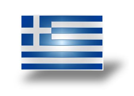 rectángulo: Bandera nacional y bandera de la República Helénica
